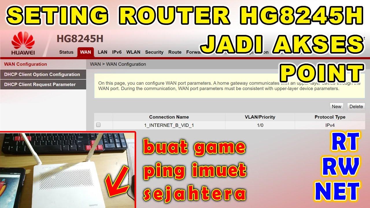 Cara Setting Router Huawei Hg8245h Youtube
