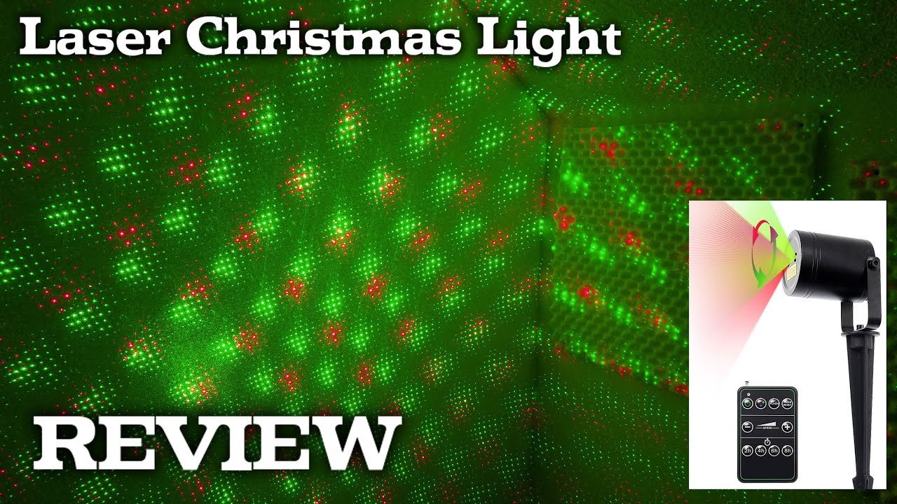 laser light projector for christmas holidays decorations review youtube - Laser Lights Christmas Decorations