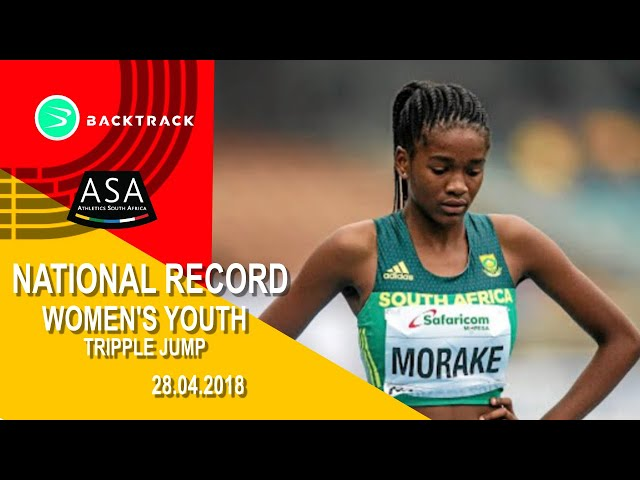Gontse Morake's u18 National Tripple Jump Record  13.10m