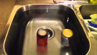 Floating and Sinking Soda Cans