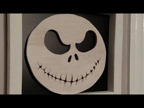 Jack Skellington Decoration with Scrap Plywood and a Jigsaw!