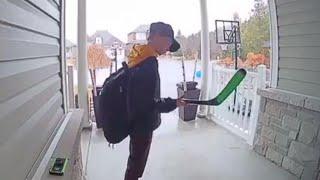 Doorbell Video Catches Boy Kissing Hockey Stick Honoring Humboldt Broncos
