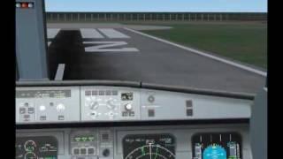 FS2004    Alitalia A320-200 Landing in Skiathos, Greece