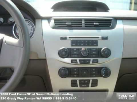 2008 Ford Focus SE, $13471 at Sound National Lending in Renton, WA