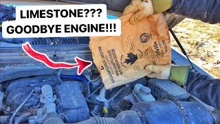 F 150 Engine Filled With LIMESTONE! Exploded!!!