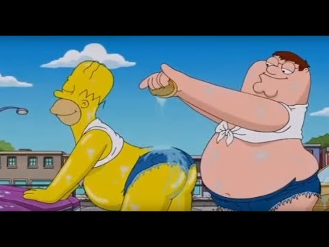 Family Guy  Simpsons Crossover  Carwash Scene My Milkshake Brings All the Boys to the Yard