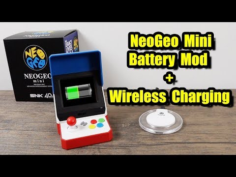 NeoGeo Mini Battery Mod + Wireless Charging