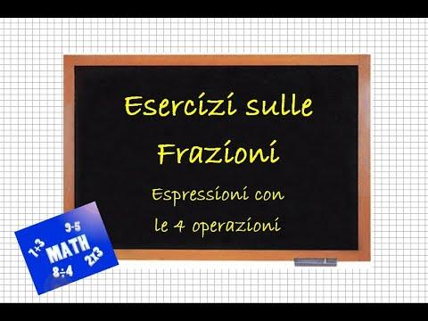 Espressioni con Frazioni Algebriche from YouTube · Duration:  9 minutes 5 seconds