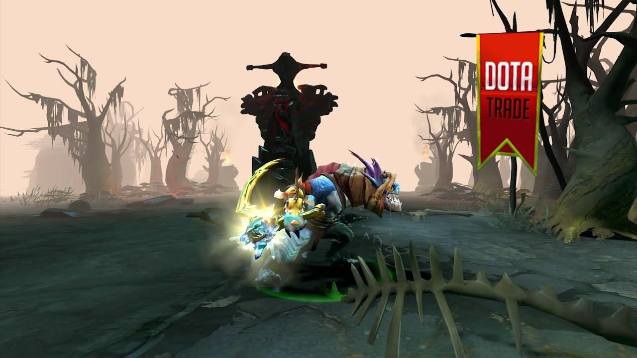 Golden Barb of Skadi Slark immortal weapon custom effect preview Dota 2