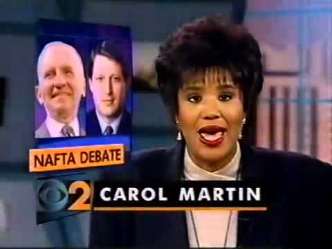 WCBS-TV 12:00 NEWS 11-9-93 Carol Martin, Michelle Marsh