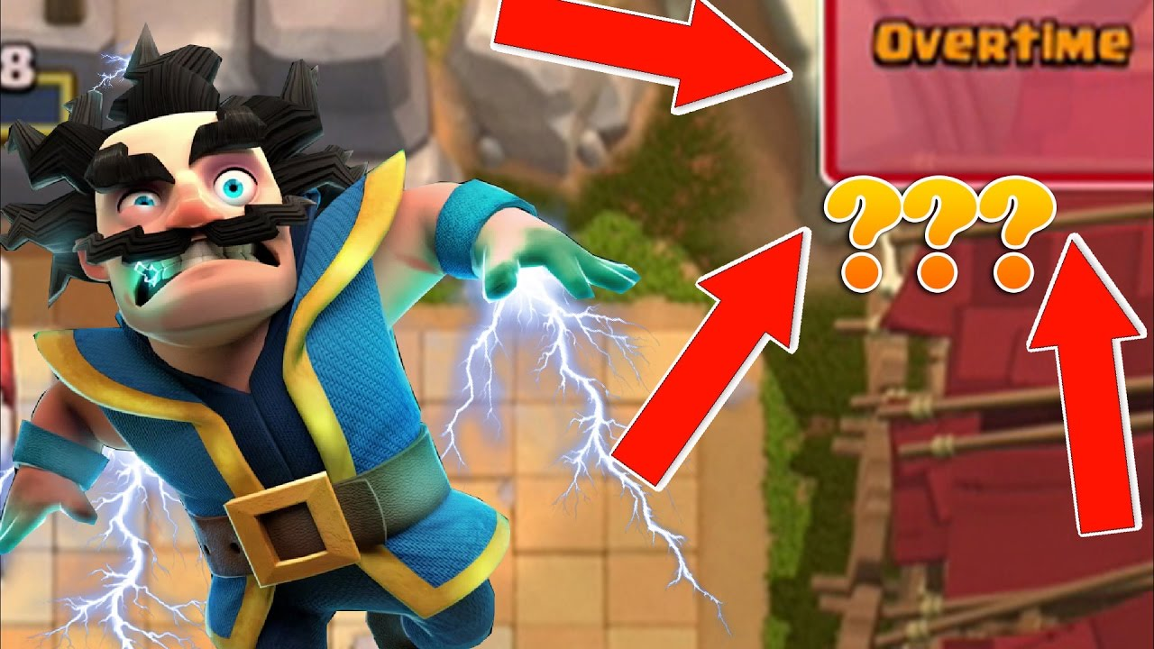 """OMG! NOT TIME!?! """"What Happened?!"""" BEST Electro Wizard Deck! Clash Royale Glitch"""