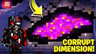 CORRUPT STEVE CREATED THE CORRUPT DIMENSION! (Scary Survival EP40)