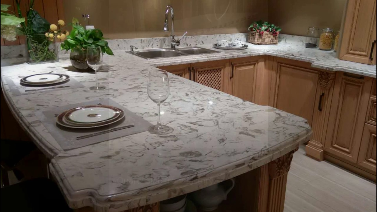 Montclair white quartz countertops project youtube for What is quartz countertops made of