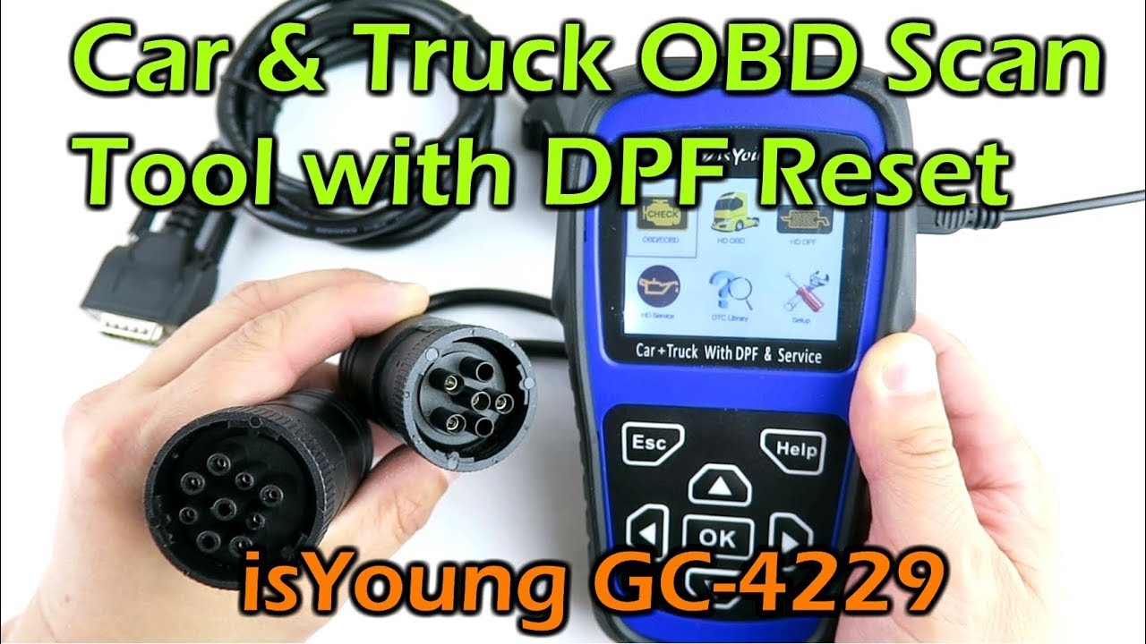 Car and Truck OBD Scanner Tool w HD DPF Reset - IsYoung GC-4229