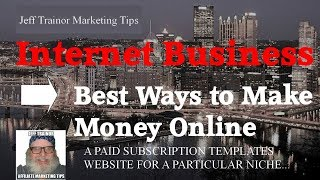 Make money online with a templates subscription website