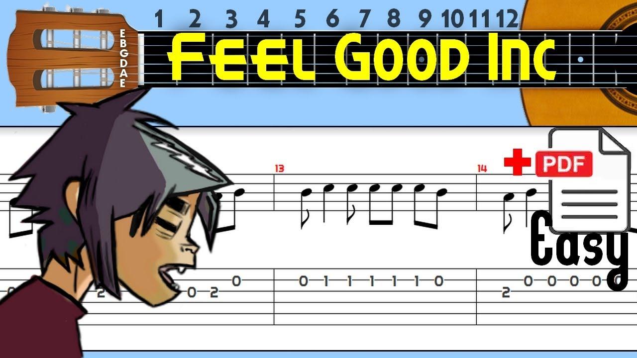 The Easiest Guitar Tabs: Gorillaz - Feel Good Inc.