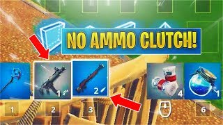 THIS is what happens when you have NO AMMO in fortnite.... (funny moments)
