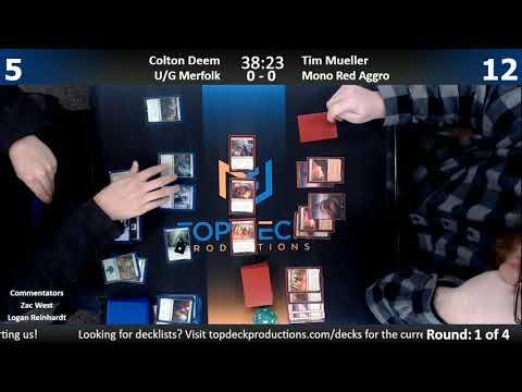 Standard Store Championship 12/27/17: Colton Deem (U/G Merfolk) vs Tim Mueller (Mono Red)