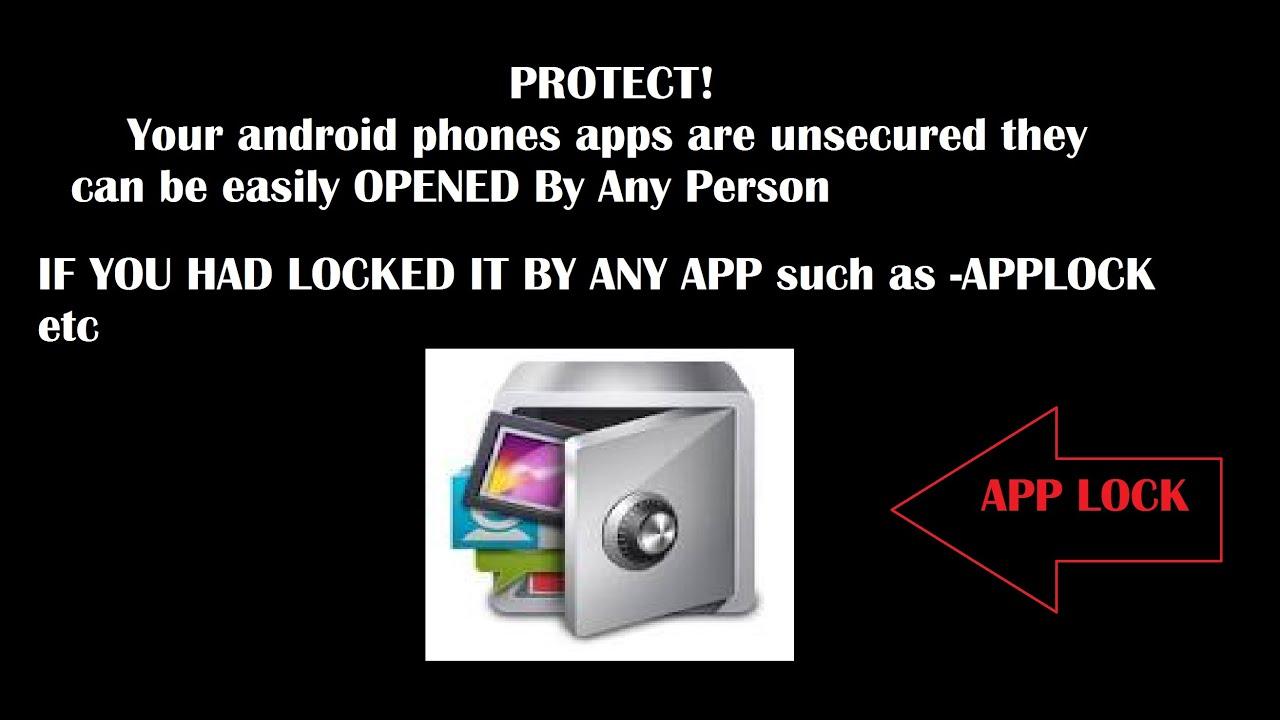 Camera How To Protect Your Android Phone hindi protect your android phone applications from the app locks locks