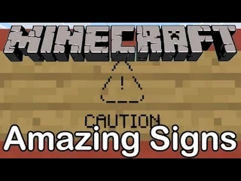 Minecraft 10 Best Signs Youtube