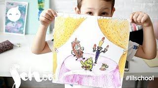 Иллюстрация к сказке Красавица и чудовище на уроке Персонаж в Lil School