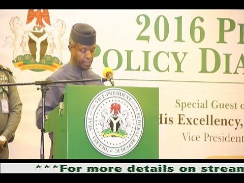 YEMI OSINBAJO, SAN, GAON,  ON THE PRESIDENTIAL POLICY DIALOGUE