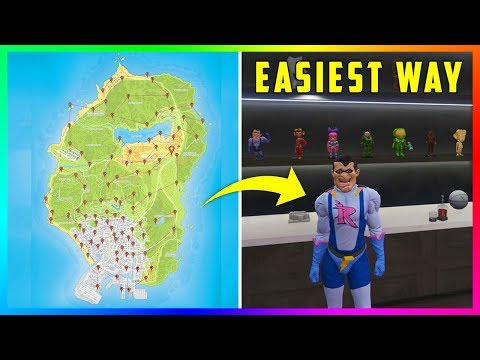The EASIEST & FASTEST Way To Collect ALL 100 Action Figures In GTA 5 Online! (Impotent Rage Outfit)