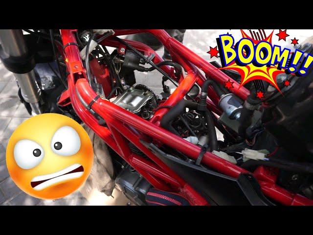 ESTO ES LO QUE PASA cuando vas  A TOPE con la MOTO 😫😫- BENELLI TNT 125