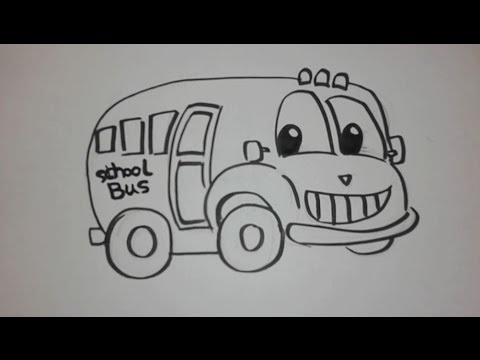How To Draw A School Bus Step By Step How To Draw A School Bus