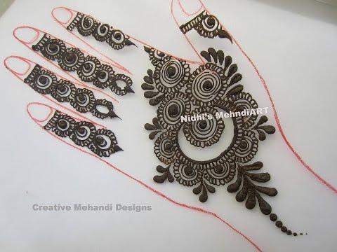 Stunning Gulf Style Henna Mehndi Design Tutorial Youtube