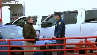 Sen. Schmidt visits Sugar Island with State Trooper Mayer in Sault Ste. Marie