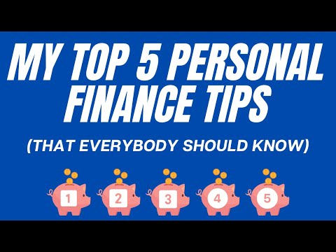 My Top 5 Personal Finance Tips