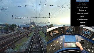 Cabview: Vyškov na Moravě - Brno hl.n. (Panter) - trať + pult