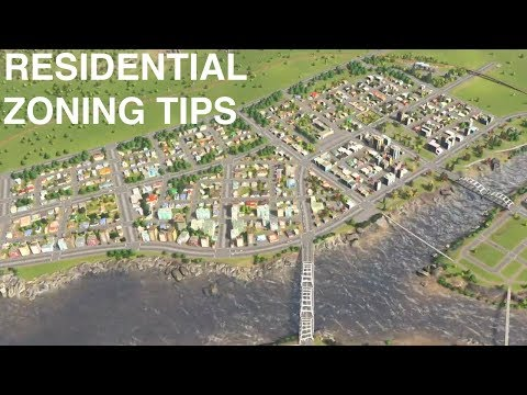 Residential Zoning Tips  | Ep 12| Cities:Skylines - Real Town Planner Plays
