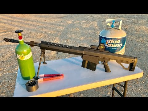 50 CAL VS PROPANE TANK WITH OXYGEN TANK - 50BMG ARMAGEDDON