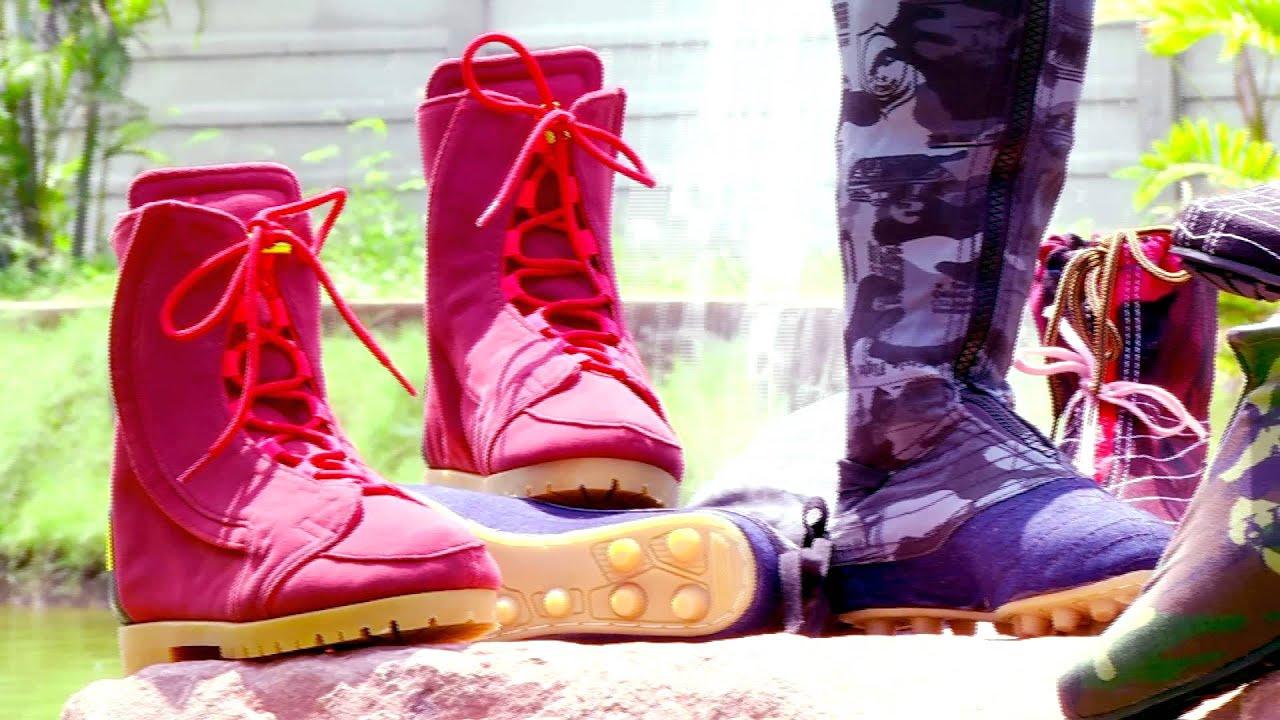 รองเท้าบูทผ้า รองเท้าความปลอดภัยของเกษตรกรไทย CH3