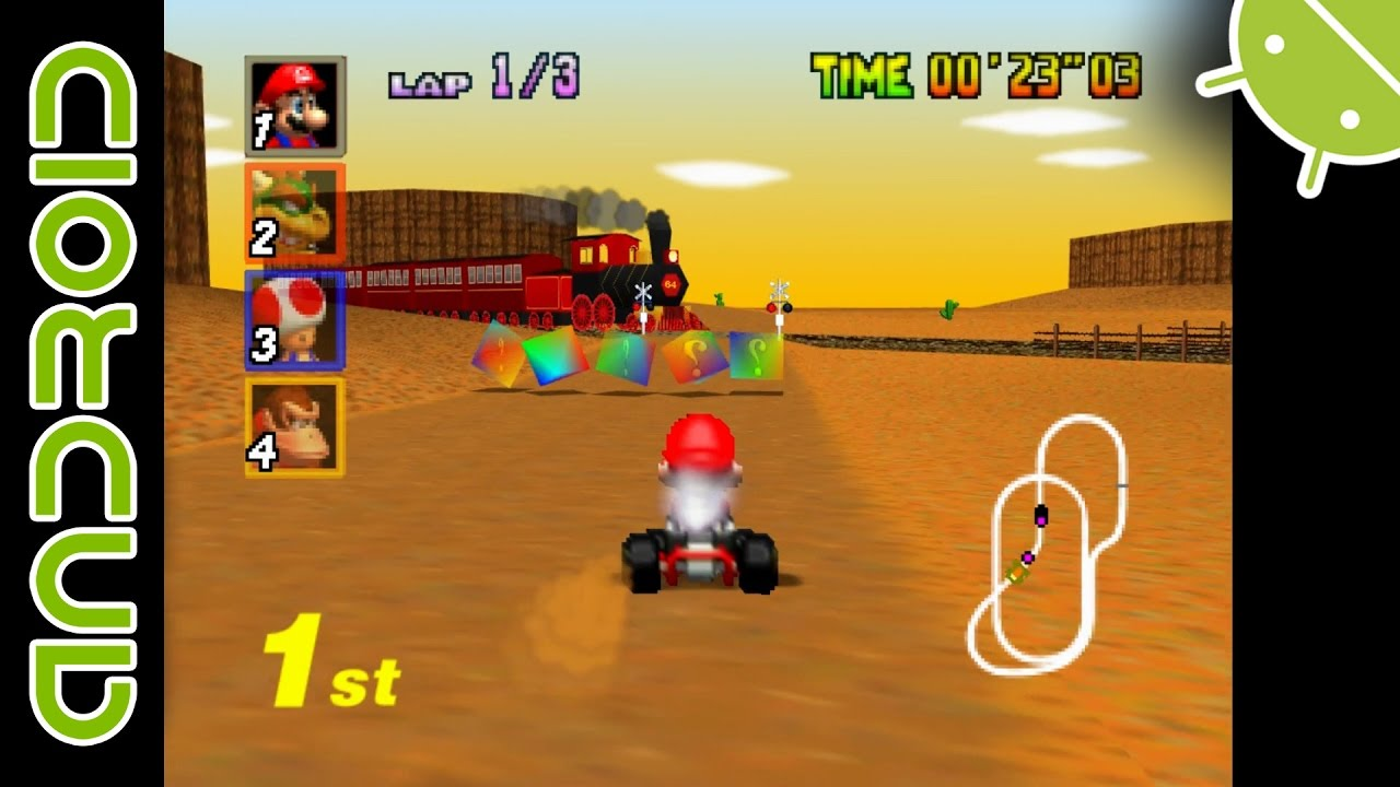 Mario Kart 64 | NVIDIA SHIELD Android TV | Mupen64Plus FZ Emulator [1080p]  | Nintendo 64