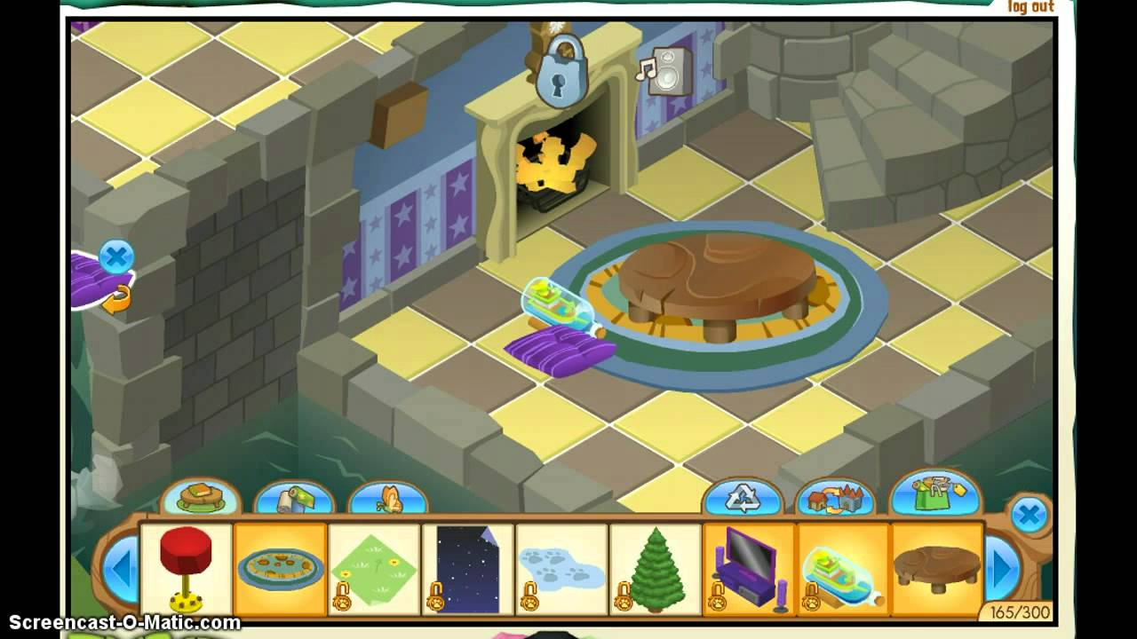 Animal jam decorating your den youtube for Home decorating ideas den
