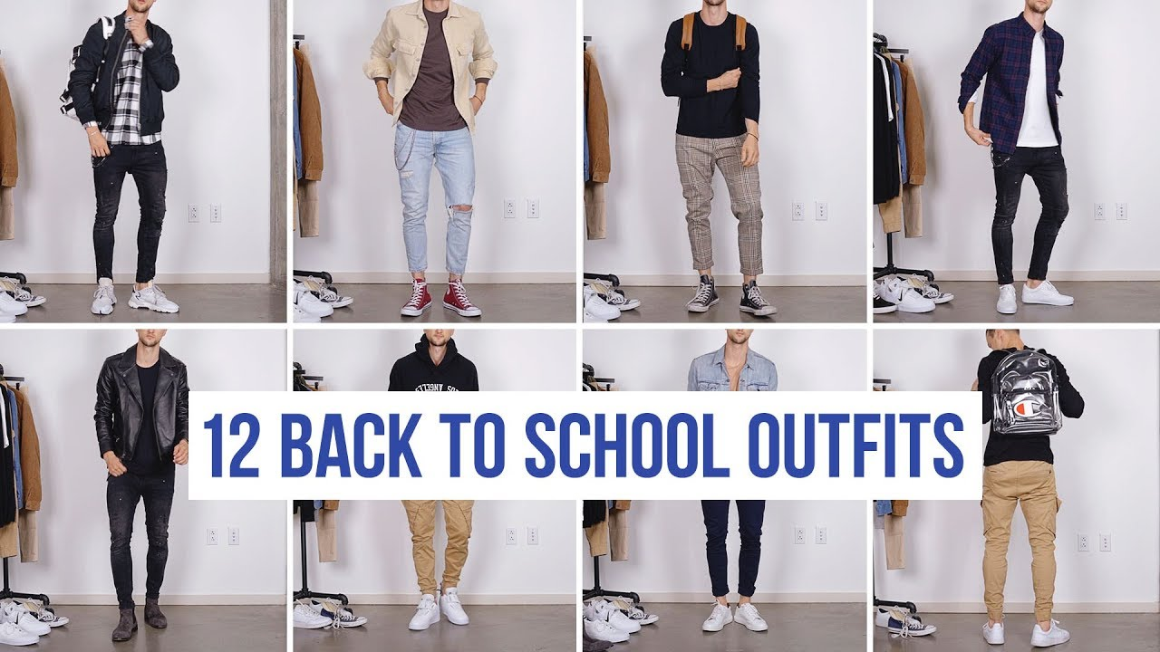 20 Stylish Back to School Outfits   Men's Fashion   Outfit Ideas