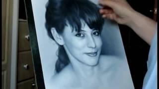 Portrait drawing Youtube. Art portrait of beauty