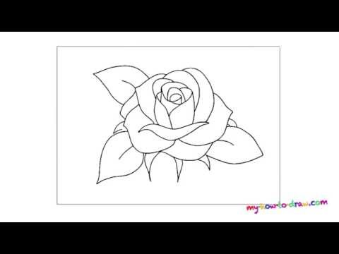 Как рисовать розу на руке