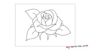 Как нарисовать розу. Рисуем розу, пошаговая инструкция.(How to draw a rose Easy step by step drawing lessons for kids., 2016-07-04T12:14:18.000Z)