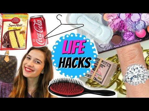 11 LIFE HACKS All Girls NEED To Know!!!!
