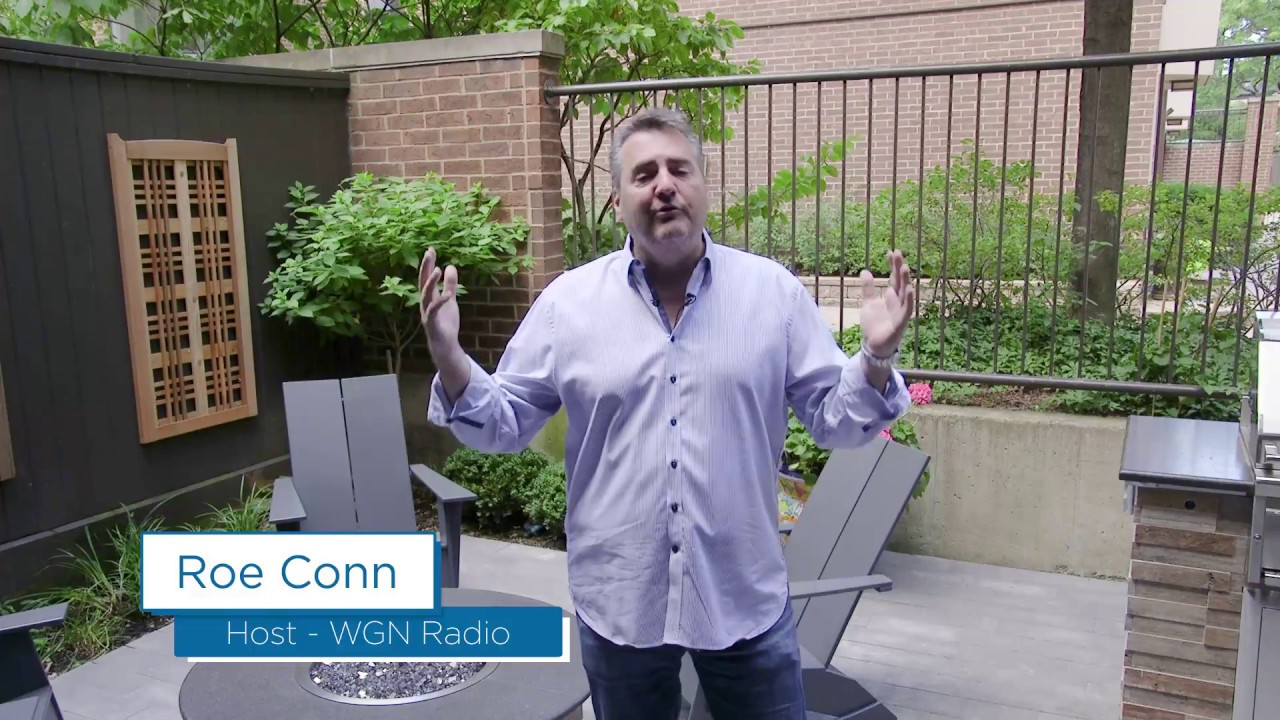 Check out WGN Radio Personality Roe Conn's new Belgard Patio