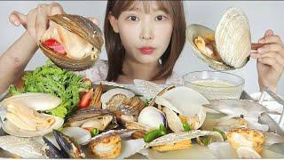 [ENG]생크림에 찍먹 조개찜과 마무리로 칼국수 먹방 …