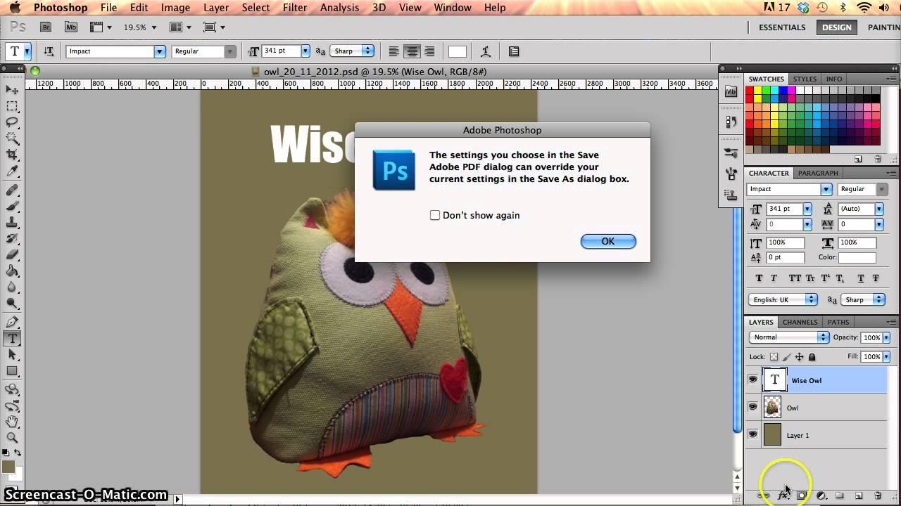 Saving in Photoshop - psd pdf jpg - Photoshop Beginners Tutorial ...