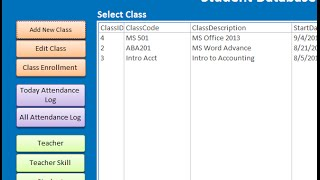 Sample file of student database in access download at http://www.iaccessworld.com/downloads/student-database-ms-access/