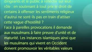 « L'innocence des musulmans » film anti-islam, condamné par le Calife.