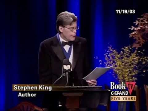 Stephen King talk at the 2003 National Book Awards Ceremony