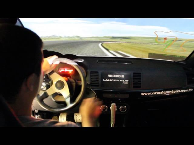 Simulador em Veiculo Real Misubishi Lancer EVO RS 2